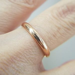 Jewelry - 3mm Rose Gold plain Tungsten Wedding Band sz 5 & 7